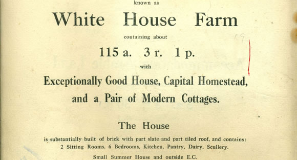 White House Farm sales particular 1927